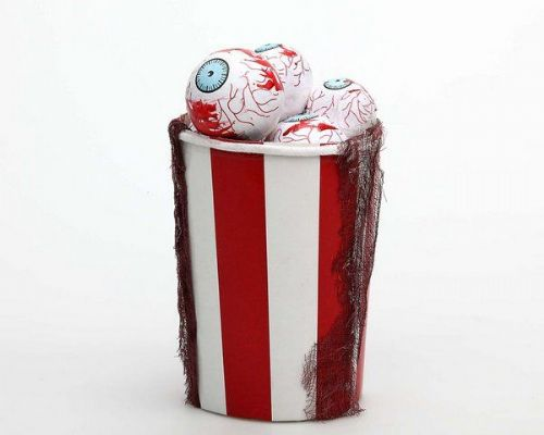 Bloody Eyes Popcorn in Cup 14 x 18cm Decoration